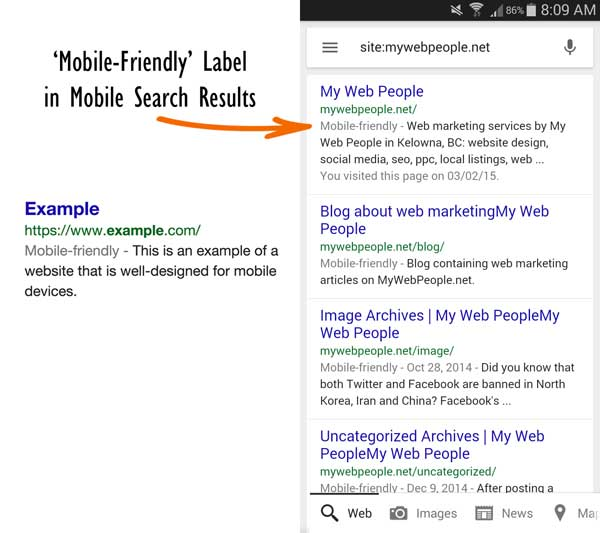 Mobile-Friendly Label Example