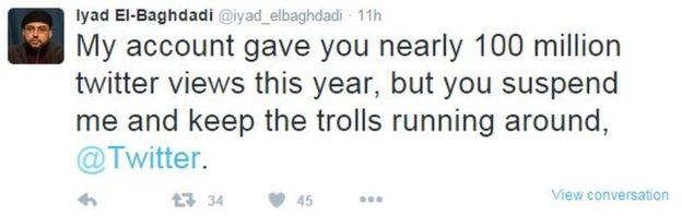 Twitter 'confuses' Iyad El-Baghdadi